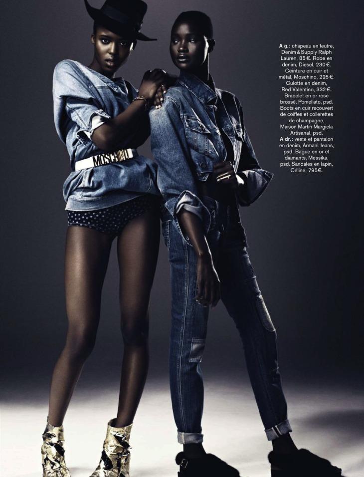 modèles  Ataui Deng  Alima Fofana