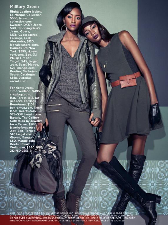Lyndsey Scott et Shena Moulton pour Essence Magazine Septembre 2013