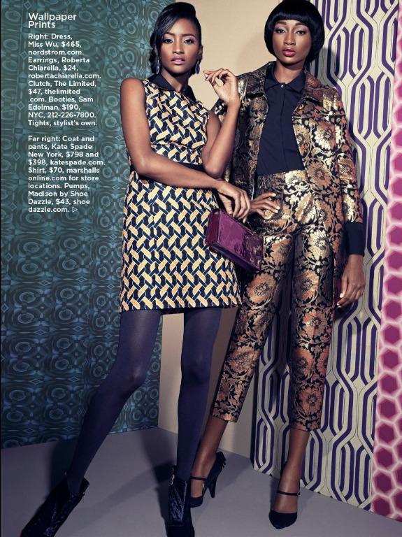 Lyndsey Scott et Shena Moulton pour Essence Magazine Septembre 2013.
