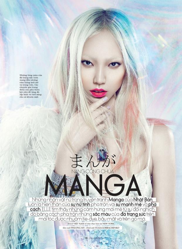Soo Joo pour Elle Vietnam Octobre 2013, en Yulia Gorbachenko