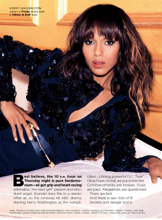Kerry Washington for Essence Magazine