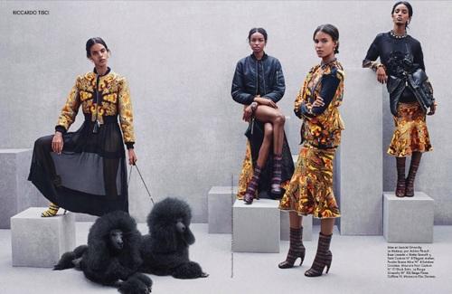 Gypsy Queens By Riccardo Tisci In Elle France Dec 2013