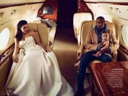 Kim Kardashian et Kanye West vogue