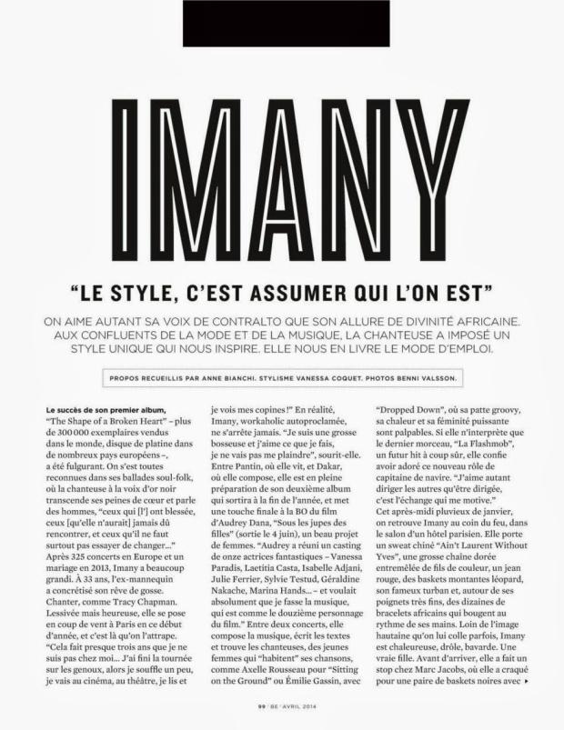 Imany - Be Magazine France April 2014_03_1