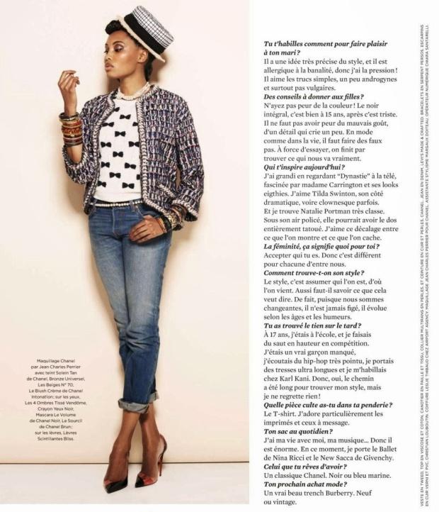 imany Linda - Be Magazine France Avril 2014