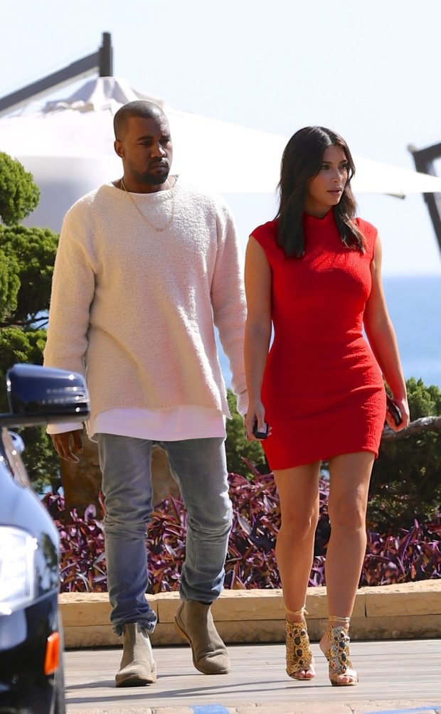 Kim Kardashian and Kanye West seen leaving Nobu sushi in Malibu