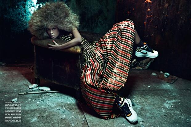 VOGUE ITALIA Mars 2014:  Erykah Badu