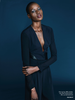 AJAK DENG - SUNDAY STYLE AUSTRALIA 16TH MARCH 2014