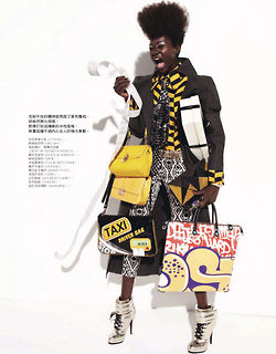 Atong Arjok & Daria Popova for Elle Magazine Taiwan January 2013.