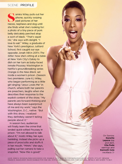 Breaking Out: Actress Samira Wiley by Warwick Saint for ESSENCE Magazine June 2014.
