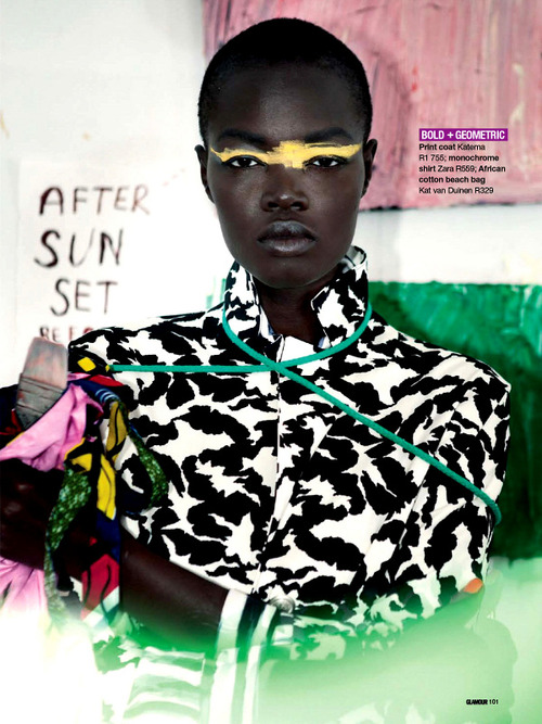 Aluad Deng Anei by Neil Kirk for Glamour South Africa May 2014