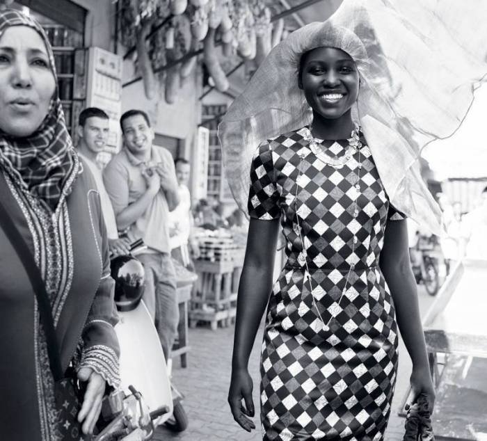 Lupita Nyong'o in Morocco for Vogue US