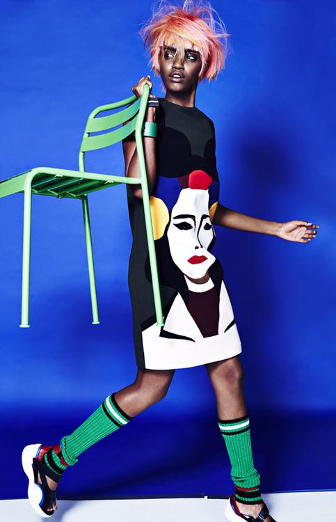 Farhiya Shire for Glamour Magazine Dutch Edition..