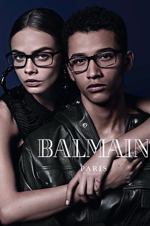 Cara Delevingne & Jackson Hale pour Balmain