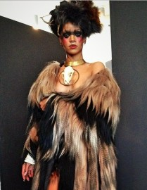Rihanna Backstage W magazine