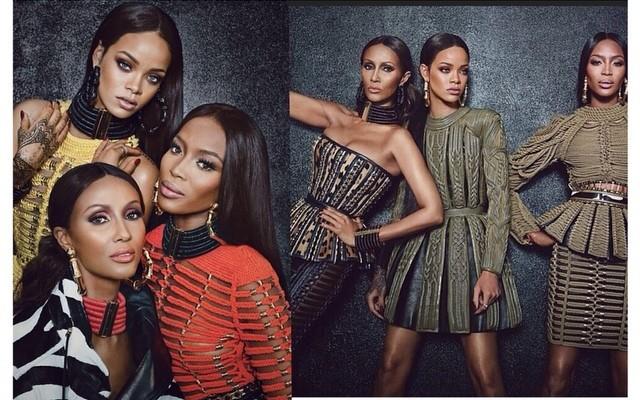 Naomi x Rihanna x Iman #Balmain #WMagazine #SeptIssue #Fashion #Style