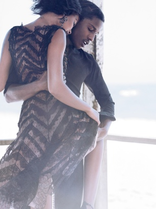 A$AP Rocky & Chanel Iman for Vogue September 2014