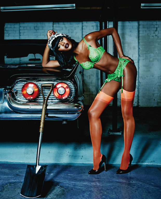Naomi for Agent Provocateur Spring:Summer 2015 Campaign photographed by Ellen von Unwerth