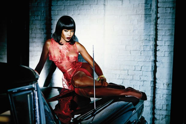 Naomi for Agent Provocateur Spring/Summer 2015 Campaign