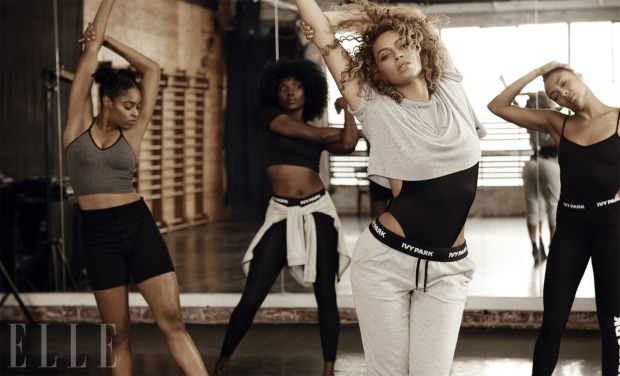 beyonce In Ivy Park for the May 2016 issue of ELLE.